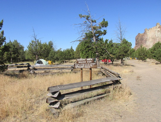 Walk-in Bivouac Camping Area at Entrance of Smith Rock State Park