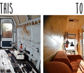 Before and After Images of Vandog Traveller's Awesome Van Conversion
